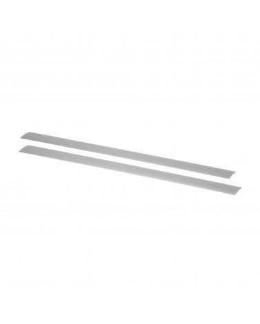 2er Pckg. Tragleistenabdeckung L450 mm platinum