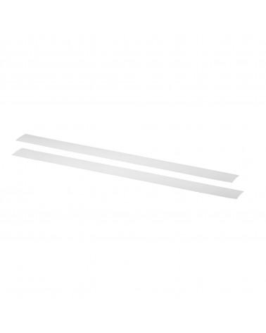 2er Pckg. Tragleistenabdeckung L450 mm weiß