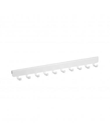 10er Haken-Tragarmaufsatz L417 mm weiß