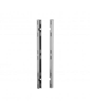 2er-Pckg, Tragleiste Lochwand L20 mm B17 mm H382 mm Platinum