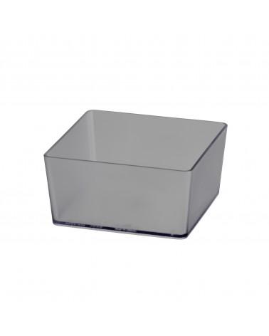Box quadratisch L98 mm B98 mm H48 mm transparent