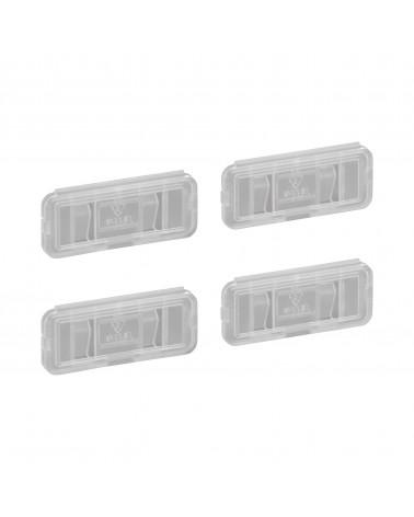 4er-Pckg. Etikettenhalter L49 mm B22 mm H8 mm transparent