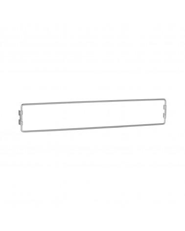 Aufhänggitter, schmal L598 mm H101 mm platinum