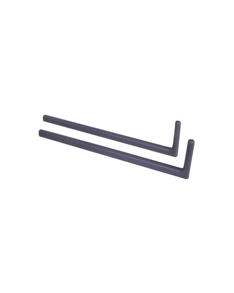 2er Pckg. Hängesschienenbefestigung f. Mehrzweck-Scheine mm weiß