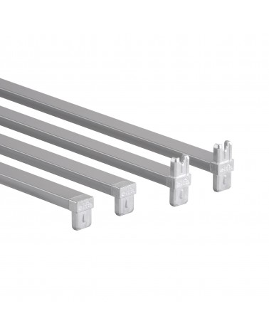Korbregalseitenteil 10 Fächer L1040 mm B535 mm platinum