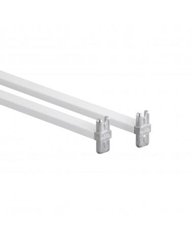 Korbregalquerstange 45 - Aufbau L450 mm weiß