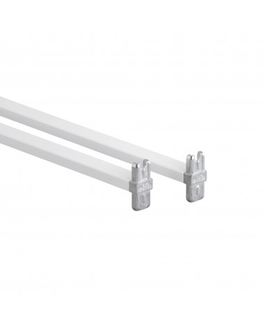 Korbregalquerstangen 45 - Aufbau L450 mm weiß