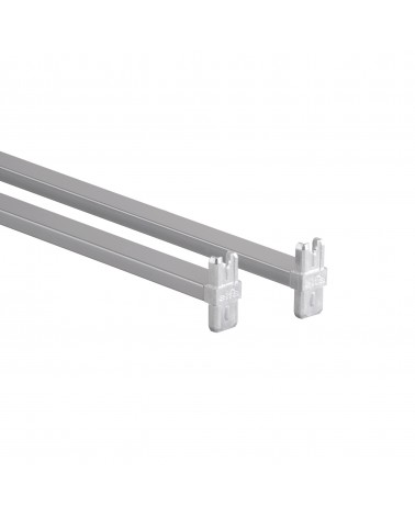 Korbregalquerstange 45 - Aufbau L450 mm platinum