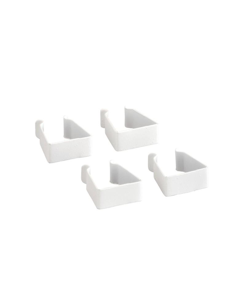 4er Pckg. Korbregalverbinder weiß