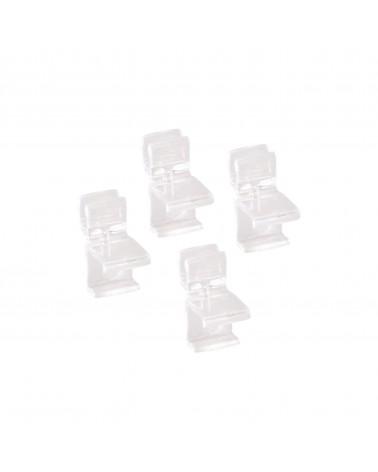 Korbregal-Fußkappe transparent 4 Stück