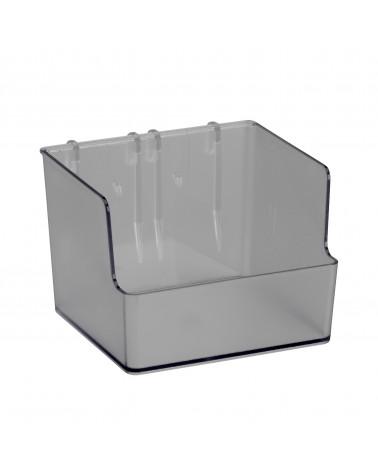 Box groß f. Lochwand L112 mm B80 mm H110 mm transparent