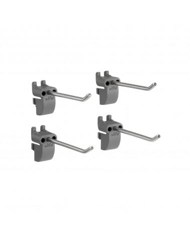4er Pckg. Werkzeughaken, 65 mm L65 mm grau