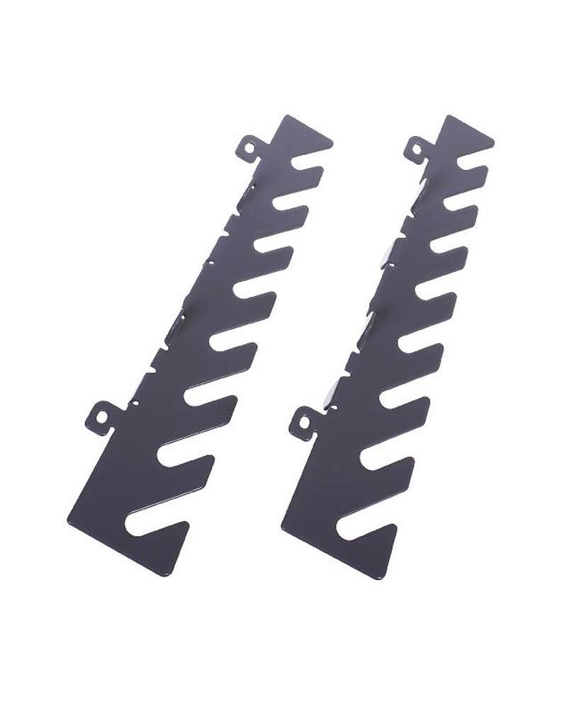 2er Pckg. Schraubschlüsselhalter - 8 St. grau