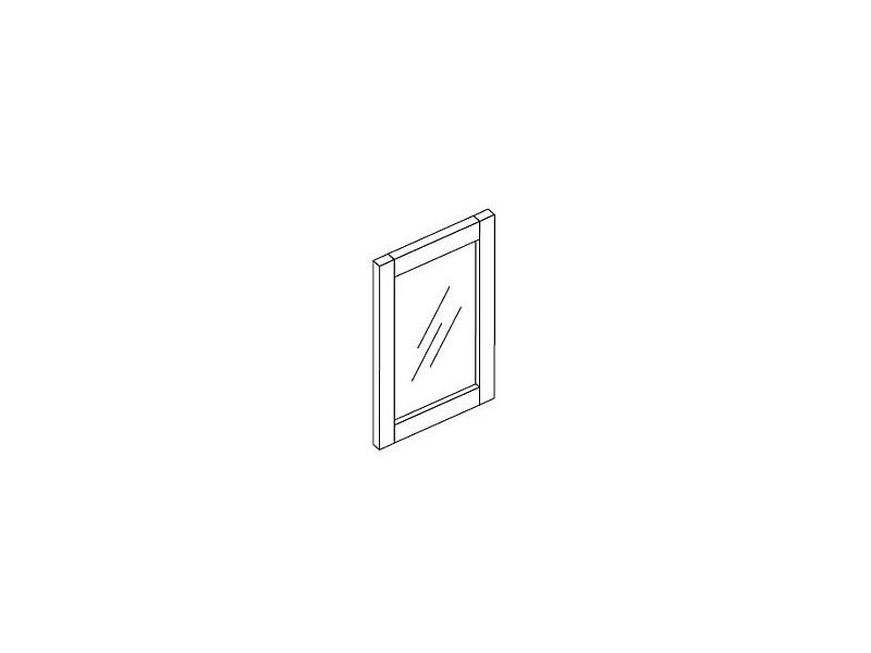Rahmentür mit Klarglasfüllung